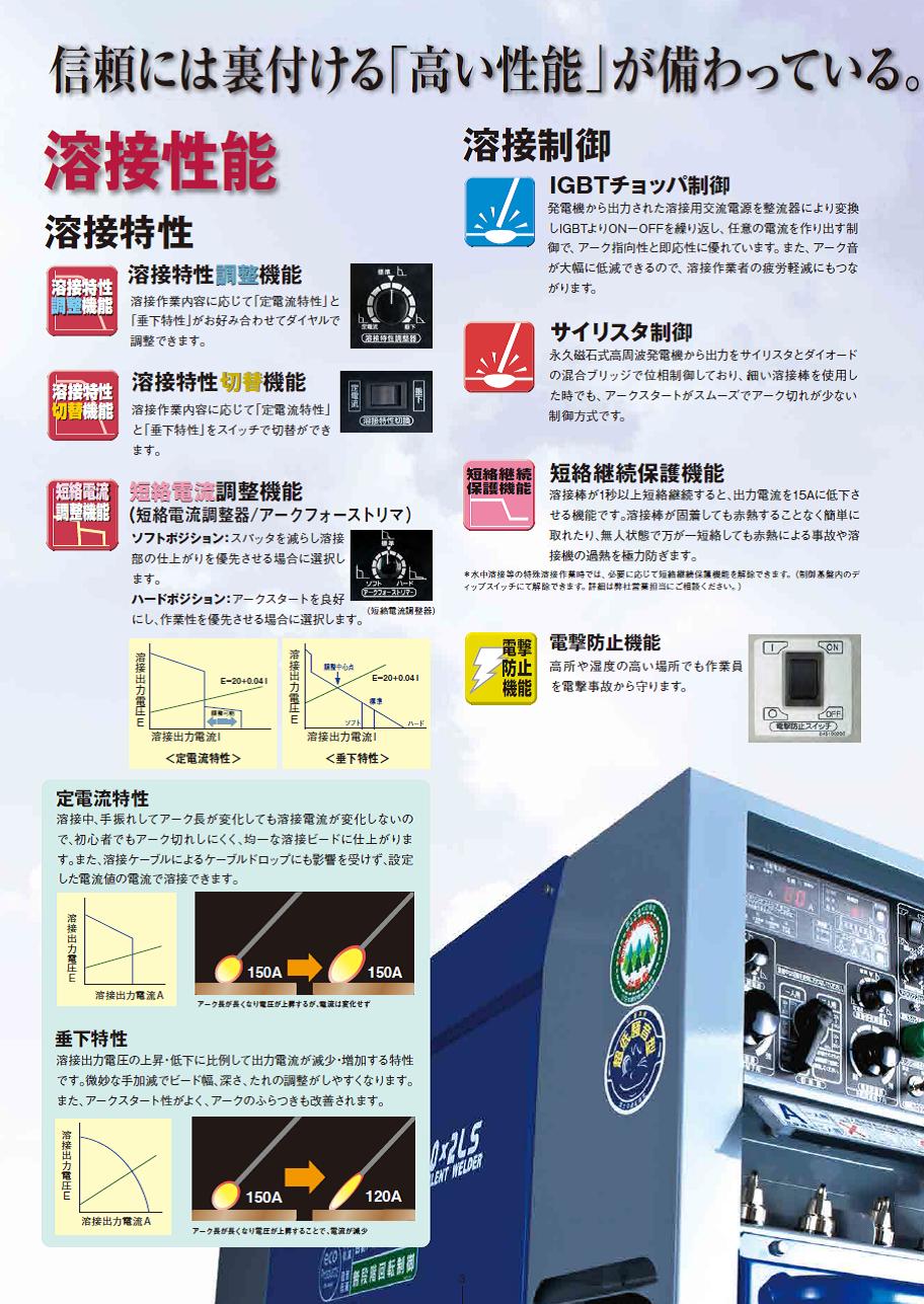 デンヨー(Denyo) エンジン溶接機(ウエルダー) DLW